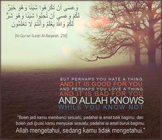 Al-Qur'an Surah Al-Baqarah : 216