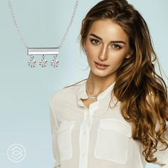 Simply Dashing! Diamond Necklaces by Brevani! The Dashing Diamonds collection will help you sparkle and shine this new year!  #dashingdiamonds #diamond #necklace #jewelry #fashion