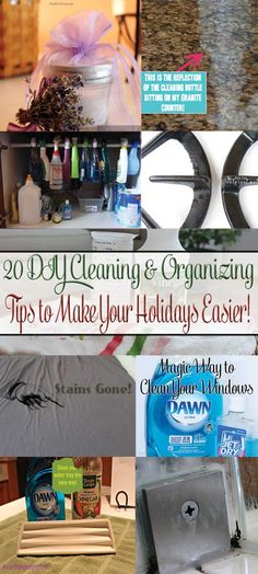 20 DIY Cleaning and Organizing Tips to Make Your Holidays Easier! This is our Christmas gift to you, we have tested everyone of these tips a...