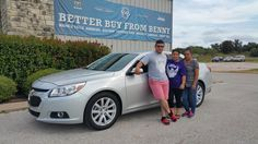 JOSE AND DEYANIRA's new 2014 CHEVROLET  MALIBU! Congratulations and best wishes from Benny Boyd Motor Company - Marble Falls and DEE NIXON.