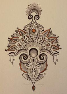 Latest drawing (Micron pens and bronze Sharpie) Anoushka Irukandji SHOP: www.irukandjidesigns.bigcartel.com