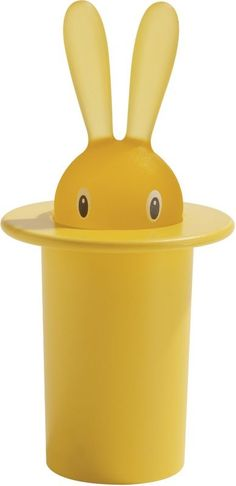 Alessi Magic Bunny Toothpick Holder - Yellow - easter ideas