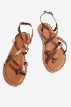 ed0a961756fc Topshop Strappy sandals  SandalsHeels Brown Sandals