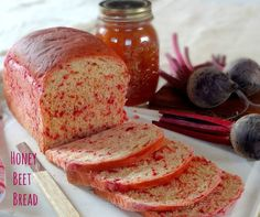 Beet Bread has the colours and flavours of Autumn. It is beety, toasts well and you'll love to have with a generous spread of butter. Baked for #BreadBakers