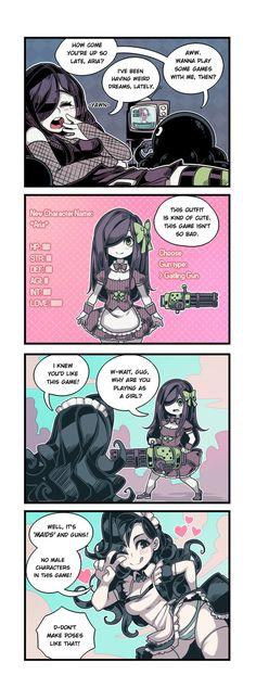 Maids & Machine Guns Hehehe hope you like some female Gug~ (!?) Also read it here! www.webtoons.com/en/challenge/… Patreon Tumblr Facebook Instagram