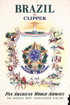 Brazil by Clipper - Pan American - 1951 - (Alajalor) -