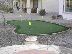 putting green to keep the Mr happy