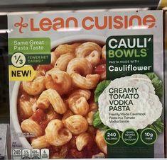 Lean Cuisine, Vodka Sauce Pasta, Cauliflower Pasta, Microwave Recipes, Frozen Meals, Quick Meals, Pasta Recipes, Vegetarian, Bowls