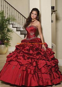 Billiges Glamoures Abendkleid aus Taft Ballkleid für Prinzessin online kaufen 2013