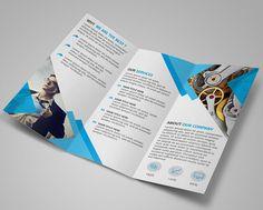 Modern Blue Tri Fold Brochure Template Psd