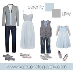 Serenity + Gray // summer and spring family photo outfit inspiration, created by Kate Lemmon www.kateLphotography.com