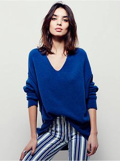 Free People Softly Vee Sweater, $118.00