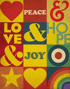 Peace & Love Poster on Behance