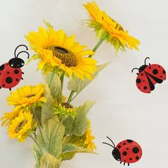 My Wonderful Walls Ladybug Decals Stickers for Ladybug Wall Decor, Red/Black, Set of 6 ** To view further for this item, visit the image link. (This is an affiliate link) #PaintingSuppliesWallTreatments