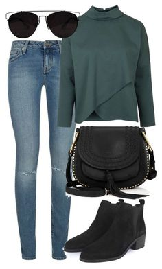 """""""Untitled #4608"""" by style-by-rachel ❤ liked on Polyvore featuring moda, Yves Saint Laurent, Topshop, Chloé, Retrò, women's clothing, women's fashion, women, female y woman"""