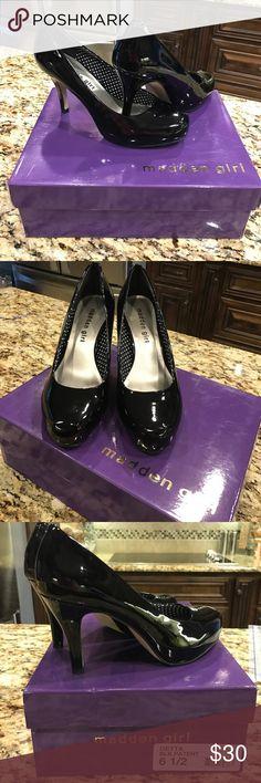 Madden Girl Getta Black Patent heels💗 SEXY😍😍😍excellent condition 💗💗💗 Madden Girl Shoes Heels