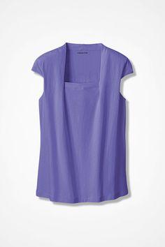 Anytime Square Neck Tank, Dahlia Purple