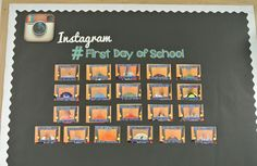 Rowdy in First Grade: Classroom photos Instagram board! SO CUTE! Change it out for different times/events. More importantly... HASHTAGS.