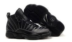 $89.97 Kid's Nike Air Jordan 12 Shoes Black/White Line