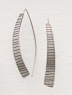 Kate Earrings by Tom McGurrin: Silver Earrings available at www.artfulhome.com