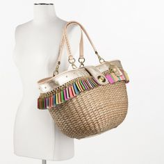 Coach :: Hamptons Weekend Straw Hangtags Editorial Tote