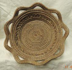 Unusual Intricately Handwoven Pine Needle Basket | eBay
