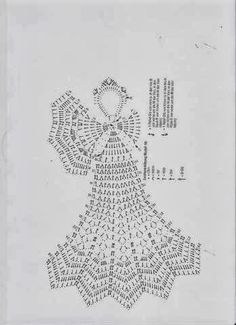 Stylowa kolekcja inspiracji z kategorii Hobby Crochet Angel Pattern, Crochet Angels, Crochet Doily Patterns, Crochet Chart, Thread Crochet, Crochet Motif, Crochet Doilies, Christmas Crochet Patterns, Crochet Ornaments