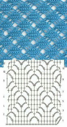 Diamond lattice stitch crochet diagram