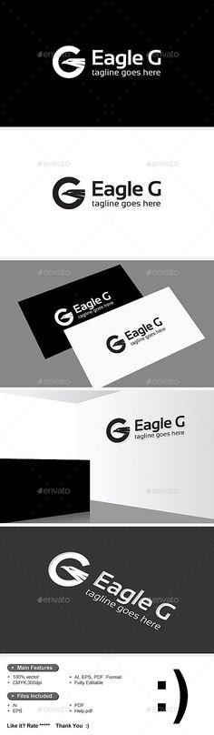 Eagle & G Letter Logo — Vector EPS #software #solution • Available here → https://graphicriver.net/item/eagle-g-letter-logo/9208644?ref=pxcr