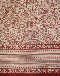 Anokhi USA: Red Hearts cotton scarf