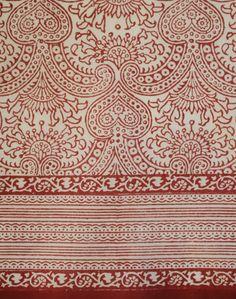 Red Hearts cotton scarf (anokhiusa)