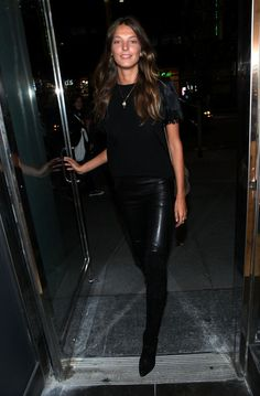 Casual (evening) street style, courtesy of Daria Werbowy.