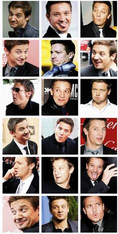 Jeremy Renner. He is so cute! This man... Words fail me…