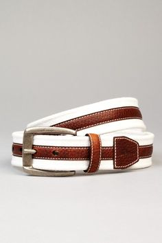 Tommy Bahama Fabric & Leather Belt