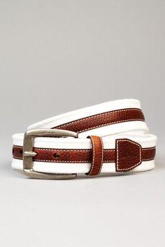 Tommy Bahama Fabric & Leather Belt