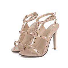 US5-9 New Fashion Style women's high heels Buckle Strap sandals ladies celebrity Rivets shoes woman sandals Pumps