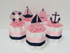 Pink+and+Navy+Blue+Nautical+Mini+Diaper+by+LanasDiaperCakeShop,+$9.99