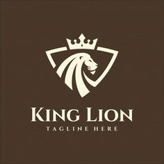 Mascot Design, Logo Design, Lion Head Logo, Money Logo, Watercolor Lion, Lion Illustration, Sports Team Logos, Crown Logo, Cute Lion