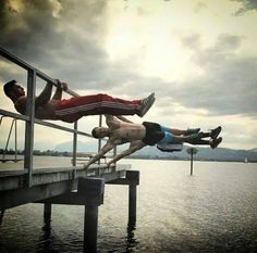 Front Lever and Flags..