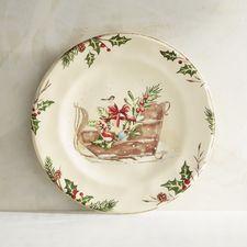 Winter's Wonder Sleigh Salad Plate