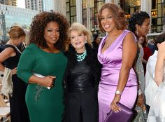 Oprah Winfrey, Barbara Walters & Gayle King from The Big Picture: Today's Hot Pics The trio attend the David Geffen Hall Renaming Ceremony and the New York Philharmonic's opening gala concert in NYC. Black Celebrities, Celebs, Barbara Walters, Desi Wedding Dresses, Girls Run The World, Thick Girl Fashion, Thing 1, Woman Standing, Oprah Winfrey