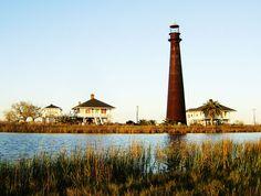 Bolivar Peninsula Lighthouse, Texas.