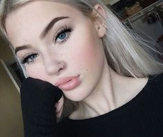 adorable, beautiful, blue eye, blue eyes, cute, fashion, girl, girls, hair, icon, icons, makeup, nose ring, perfect, pretty, style, swag, okaysage