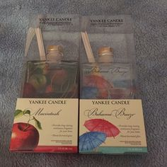 Yankee Candle fragrance diffusers Yankee Candle fragrance diffuser Macintosh Apple and Bahama Breeze Yankee Candle Other