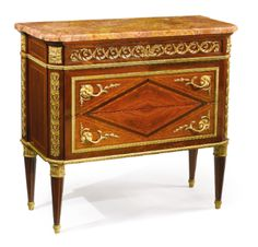A LOUIS XVI STYLE GILT BRONZE MOUNTED VENEERED SIDE COMMODE AFTER THE MODEL BY JEAN-FRANÇOIS LELEU France, early 20th century - Sothebys
