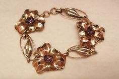 50.00 off September sale many items reduced from 20 to 60% off Visit my Ruby Plaza Shop Link on home page     Stunning rare Silver 12k GF Art Nouveau Amethyst color Flower link from vintageshari on Ruby Lane