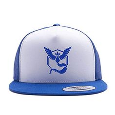 Pokemon Go Hat Team Mystic Team Valor Team Instinct Trucker Hat Snap Back Pokemon Hat, Pokemon Charizard, Cool Pokemon, Pokemon Go Team Mystic, Mystic Team, Big Face, Ear Hats, Snap Backs, Snapback Hats