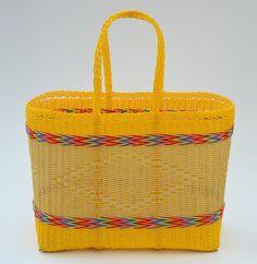 Woven Guatemalan Multicolor Yellow Plastic by HandcraftGuatemala