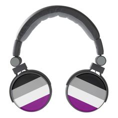 Asexuality pride flag headphones
