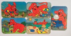 #Clifford the Big Red Dog Refrigerator Magnets, Party Favors, Kitchen Decor, Clifford Magnets by EverydayWomenJewelry on Etsy https://www.etsy.com/listing/261554372/clifford-the-big-red-dog-refrigerator